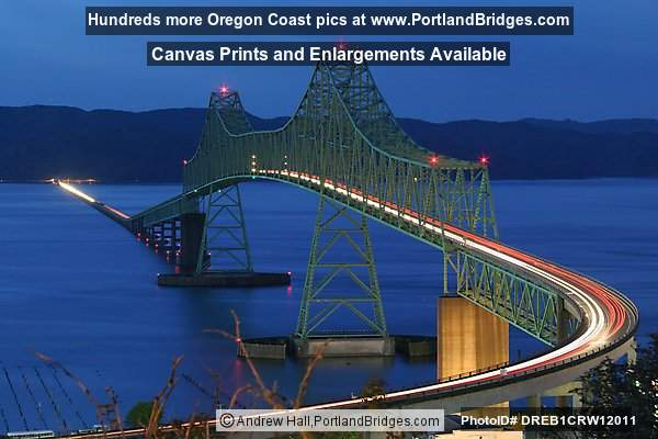 Astoria-Megler Bridge, Astoria, Oregon, Dusk