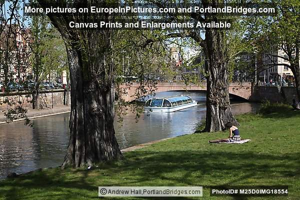 Sunbathing Along the Canal, Strasbourg