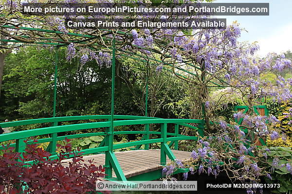 Monet's Garden: Bridge over Lily Pond, Giverny