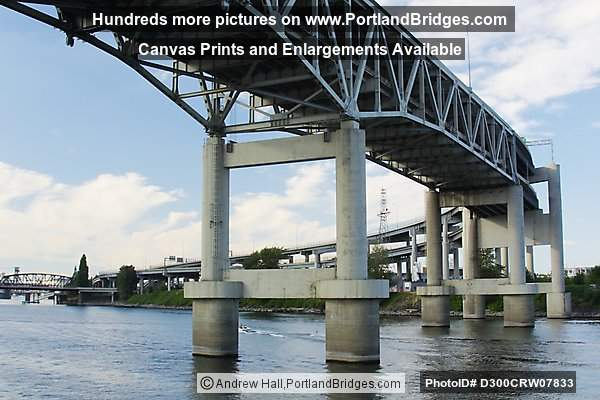 Marquam Bridge from Portland Spirit, Willamette River