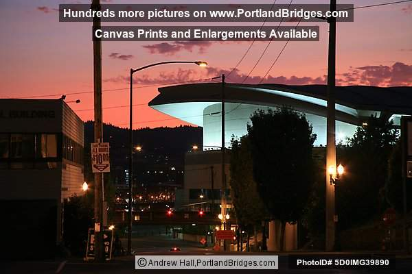 Moda Center (formerly Rose Garden Arena) Orange Sky (Portland, Oregon)