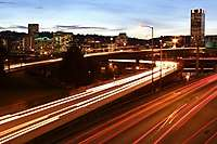 Portland Freeway Lights Cityscape