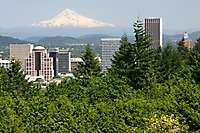 Portland City View, Mt. Hood, From Rose Garden