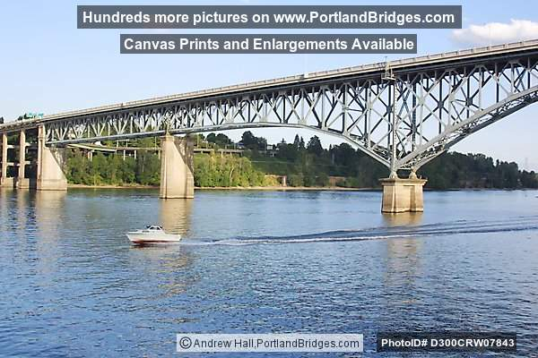 Ross Island Bridge from Portland Spirit, Willamette River